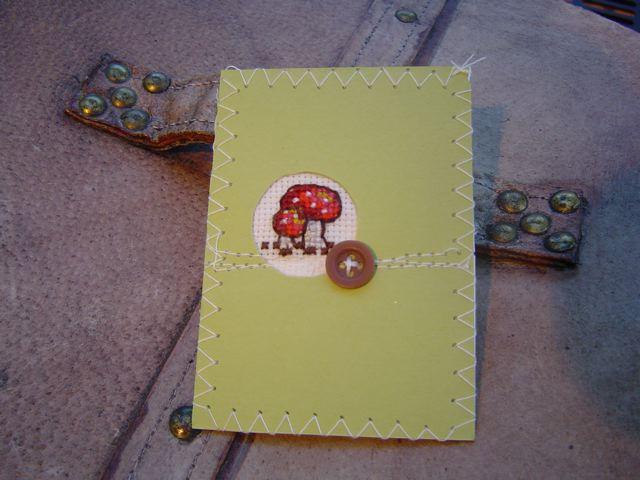 cross stitch mushroom
