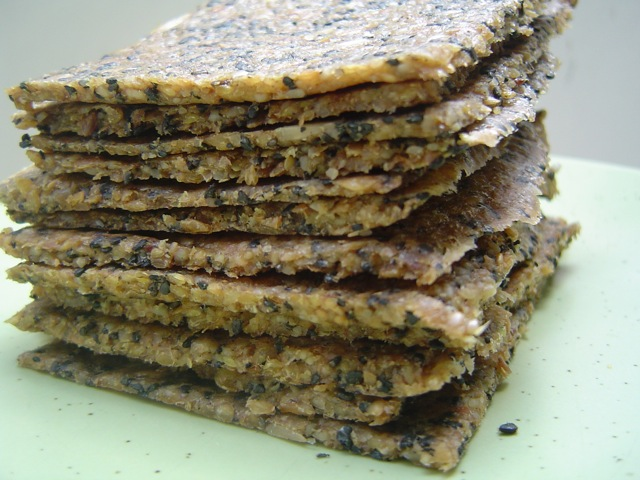 with sunflower seeds, flax, apple and black sesame