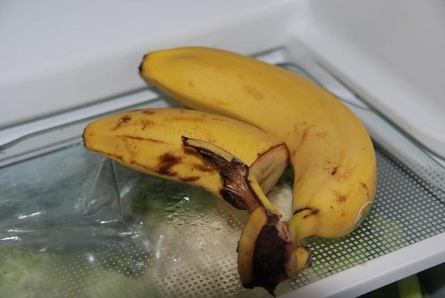 Die letzte Banane, fürs Frühstück im Kühlschrank versteckt.